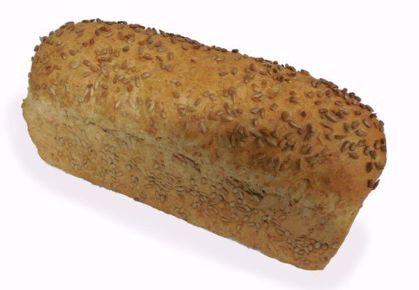 Afbeeldingen van Lichtbruin brood zonnebloempitten