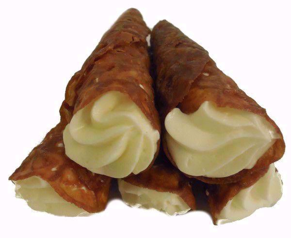 Afbeelding van Creme hoorntjes vanille per 10