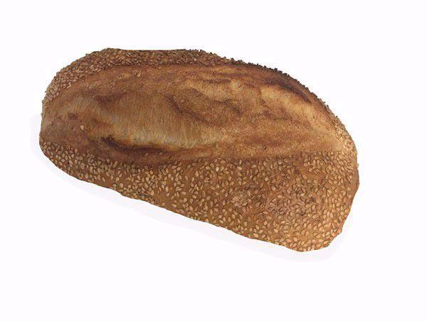 Vloerbrood wit sesam