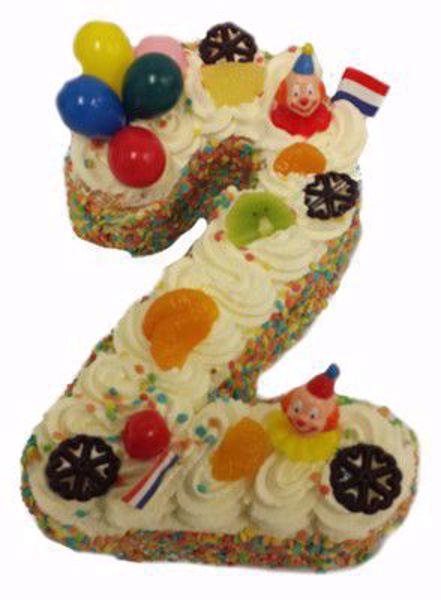 Afbeelding van Cijfer taart 2