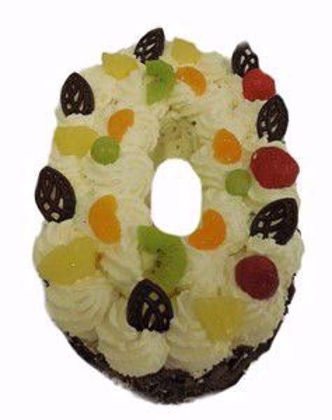 Afbeelding van Cijfer taart 0